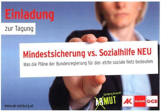 "TAGUNG: ""Mindestsicherung vs. Sozialhilfe NEU"""